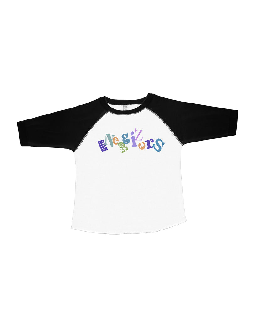 RS3330 Toddler Baseball Tee - Black/White