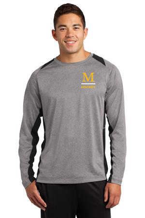 ST361LS Sport-Tek® Long Sleeve Heather Colorblock Contender™ Tee - Marshall Hockey