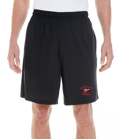 Embroidered Shorts- Black- G46S- East Football