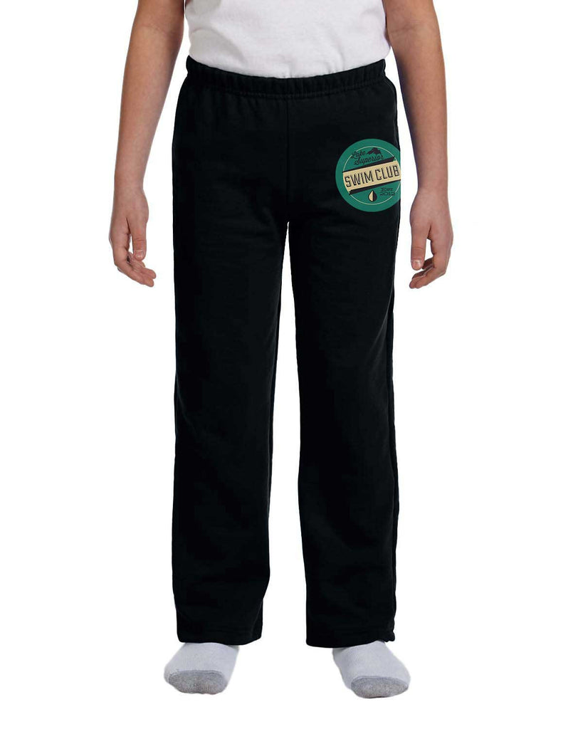G184B Black Cotton Blend Sweatpants - Youth