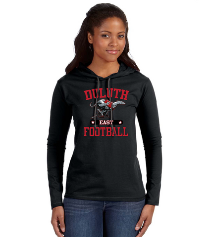Women's Anvil T-Shirt Hoodie 887L- East Football
