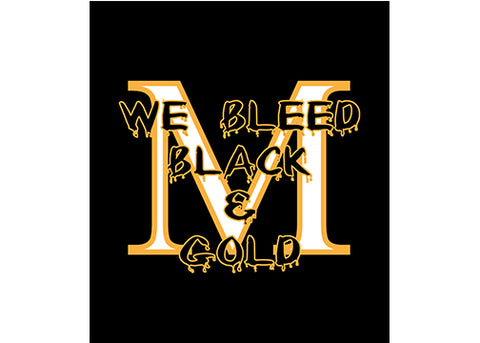 G240 Marshall Homecoming Long Sleeve Tee - We Bleed Black and Gold
