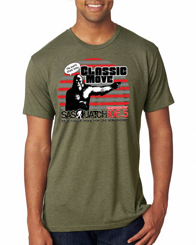 Sasquatch 106.5 Design TriBlend T-Shirts - 6010