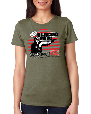 Sasquatch 106.5 Design Ladies TriBlend T-Shirts - 6710