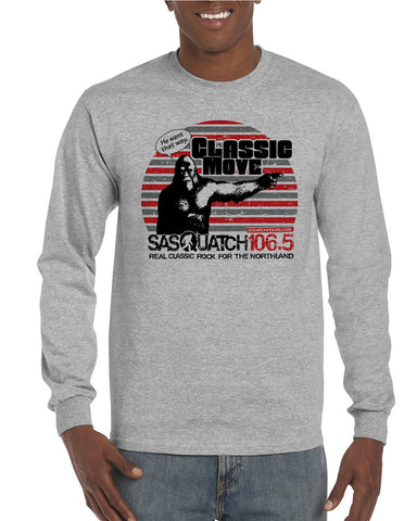 Sasquatch 106.5 Design Long Sleeve T-Shirts - H400