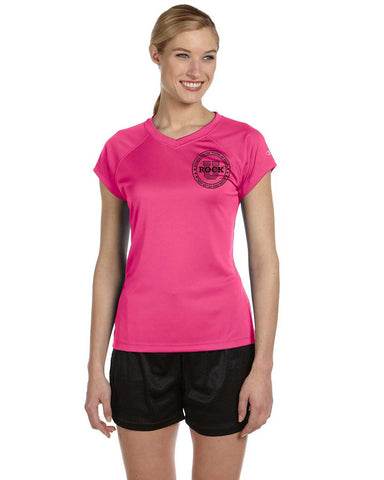 Rock U Women's Performance T-Shirt Front Crest CW23