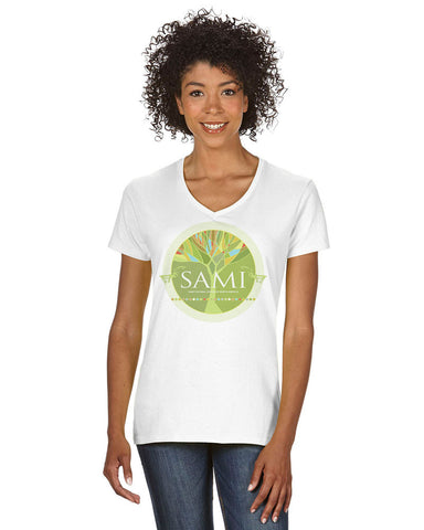 Sami Cultural Center Ladies V-Neck T-Shirt G500VL