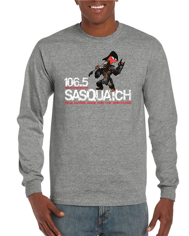 Sasquatch 106.5 Long Sleeve Logo T-Shirts - H400