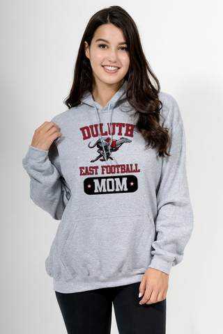 Football Mom Sweatshirt -Sport Gray- G185- East Football