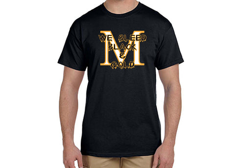 G200 Marshall Homecoming Short Sleeve Tee - We Bleed Black and Gold