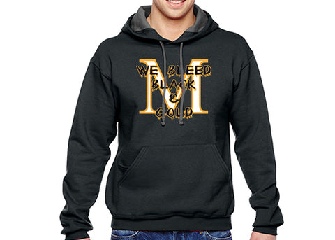 SF76R Marshall Homecoming Hoodie - We Bleed Black and Gold