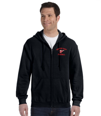 Black Full Zip G186- Embroidered- East Football