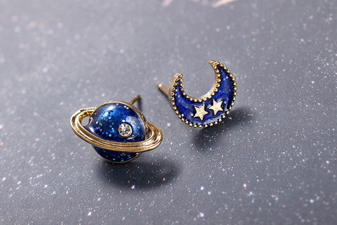 Moon And Planet Studs