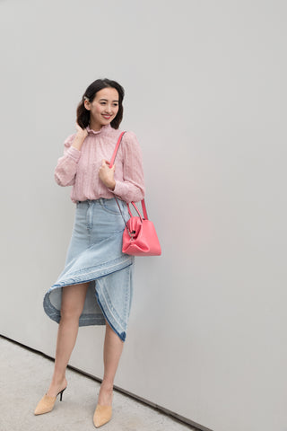 ruffle-denim-skirt