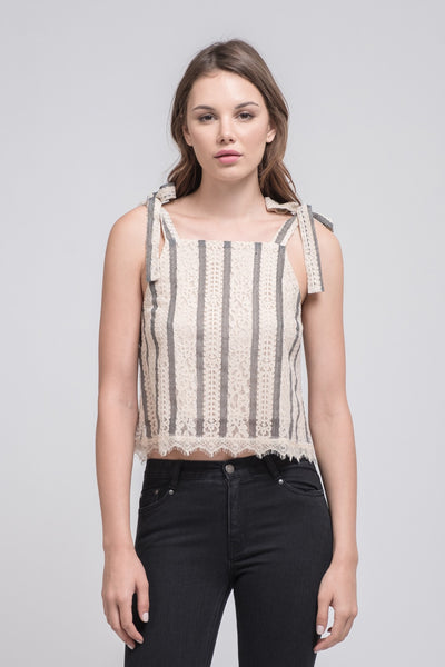 Lace Cami with Shoulder Ties