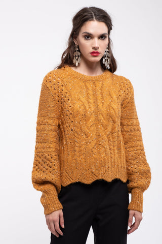 Balloon Sleeves Sweater Top