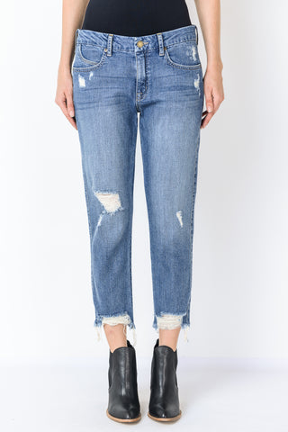 Destroyed Hem Jeans