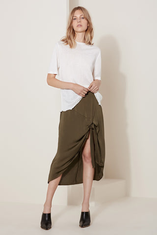 Front Knot Wrap Skirt