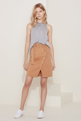 Belted Wrap Mini Skirt