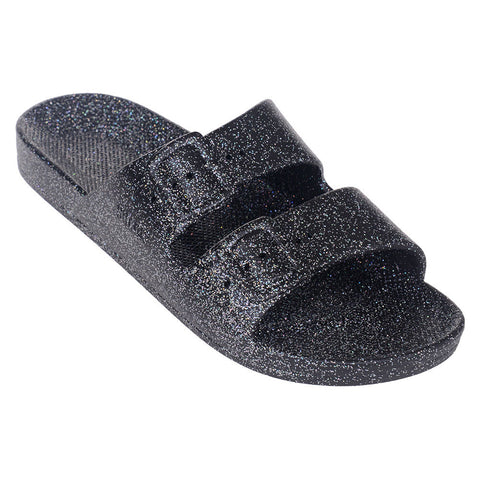 Freedom Slipper - Glitter Black