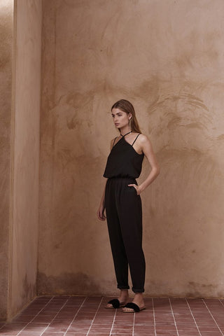 Strappy High Neck Jumpsuit
