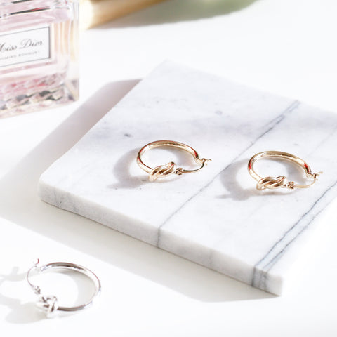 Single Knot Hoop Earrings