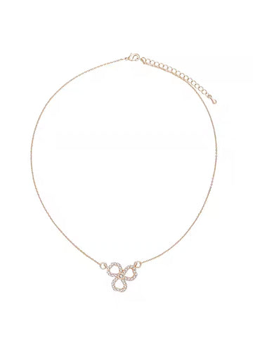 Rhinestone Clover Necklace