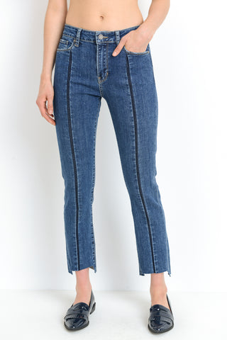 Front Stripe Straight Leg Jeans
