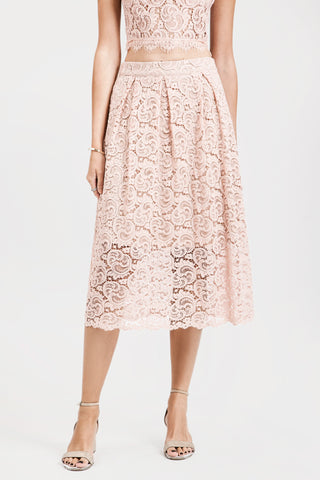 Lace Flare Midi Skirt