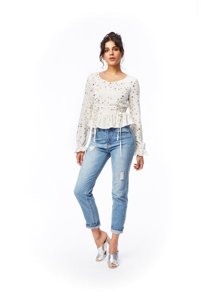 Starstruck Lace Up Top