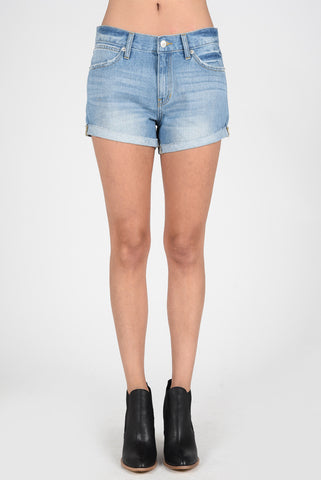 Scissor-Cut Cuffed Shorts
