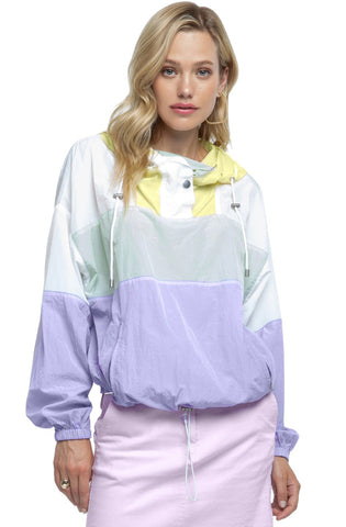 Pastel Color Block Windbreaker