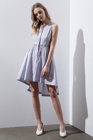 Asymmetric Hem Stripe Dress