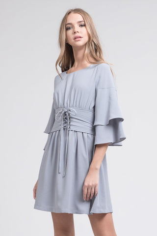 Tiered Sleeve Corset Dress