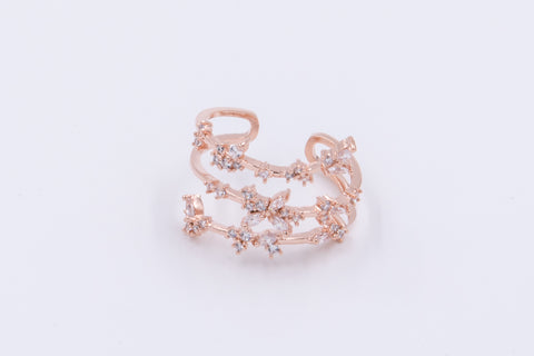 Three-Layered Rhinestone Ring