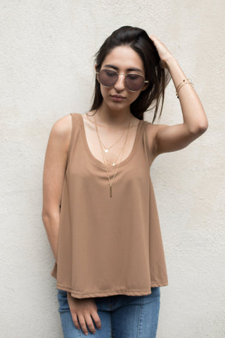 Oversized Flare Tank Top