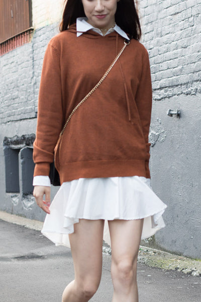 Oversized Knit Hoodie