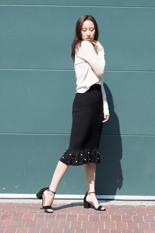 Fishtail Pearl Knit Skirt