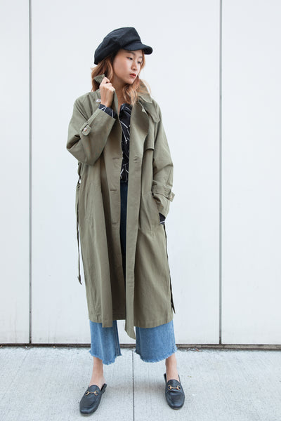Oversized Long Trench Jacket