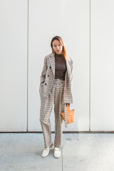Double Breasted Checker Jacket