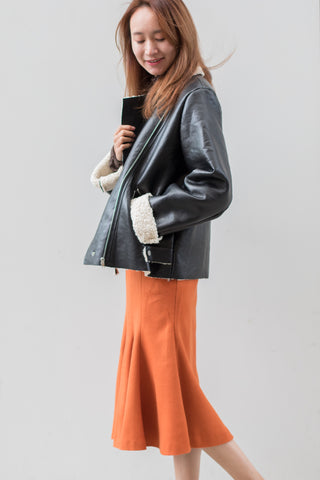 Wool Shearling Moto Jacket