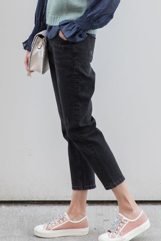 Fleece Lining Boyfriend Jeans