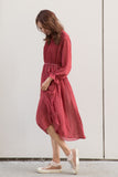 Chiffon Pleated A-line Dress