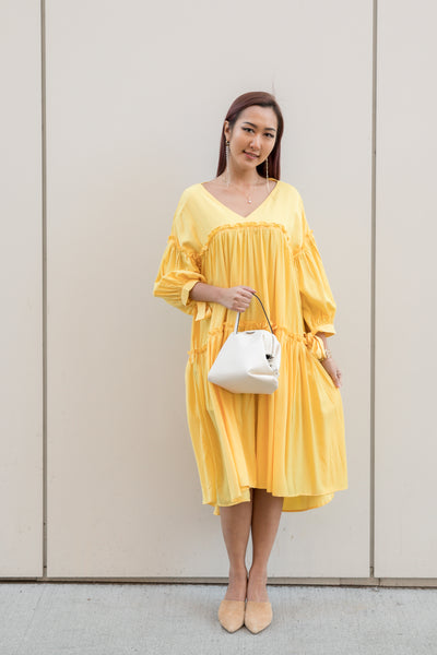 Oversized V-neck A-line Dress