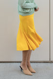Fishtail Midi Skirt with Side Slit