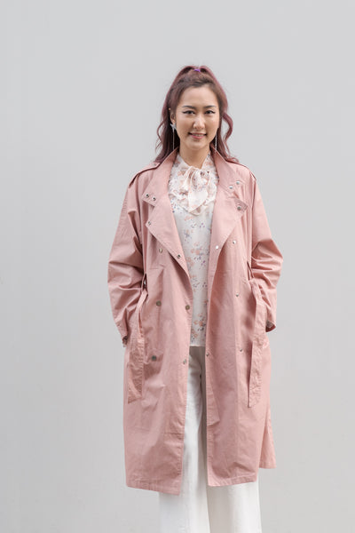Double-breasted Buttons Trench Jacket