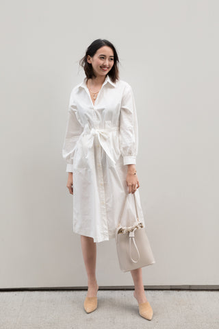 Oversized Shirt Dress with Waist Belt