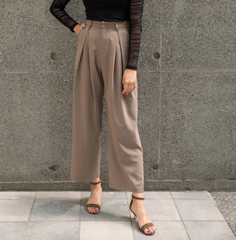 High-waisted Pleated Wide Leg Pants