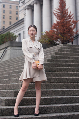 Double-breasted Fishtail Trench Jacket