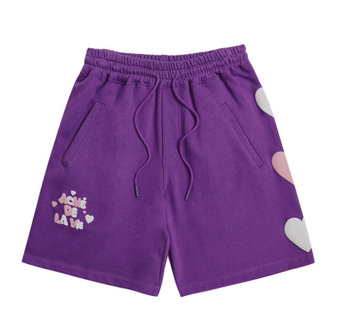 Embossing Heart Shorts